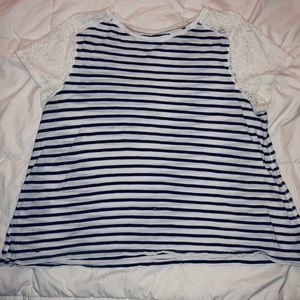 Tommy Hilfiger: Striped/Lace Tee